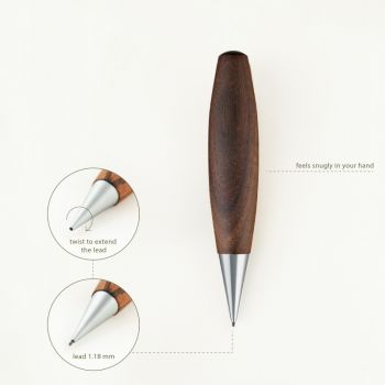 propelling pencil move 1.18 - walnut